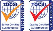 TQCSI - ISO 45001:2018 / ISO 9001:2015